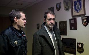 Le général Laurent Phélip aux côtés du ministre de l'Intérieur, Christophe Castaner