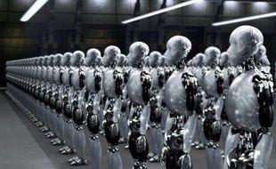 Des robots du film «I, Robot».