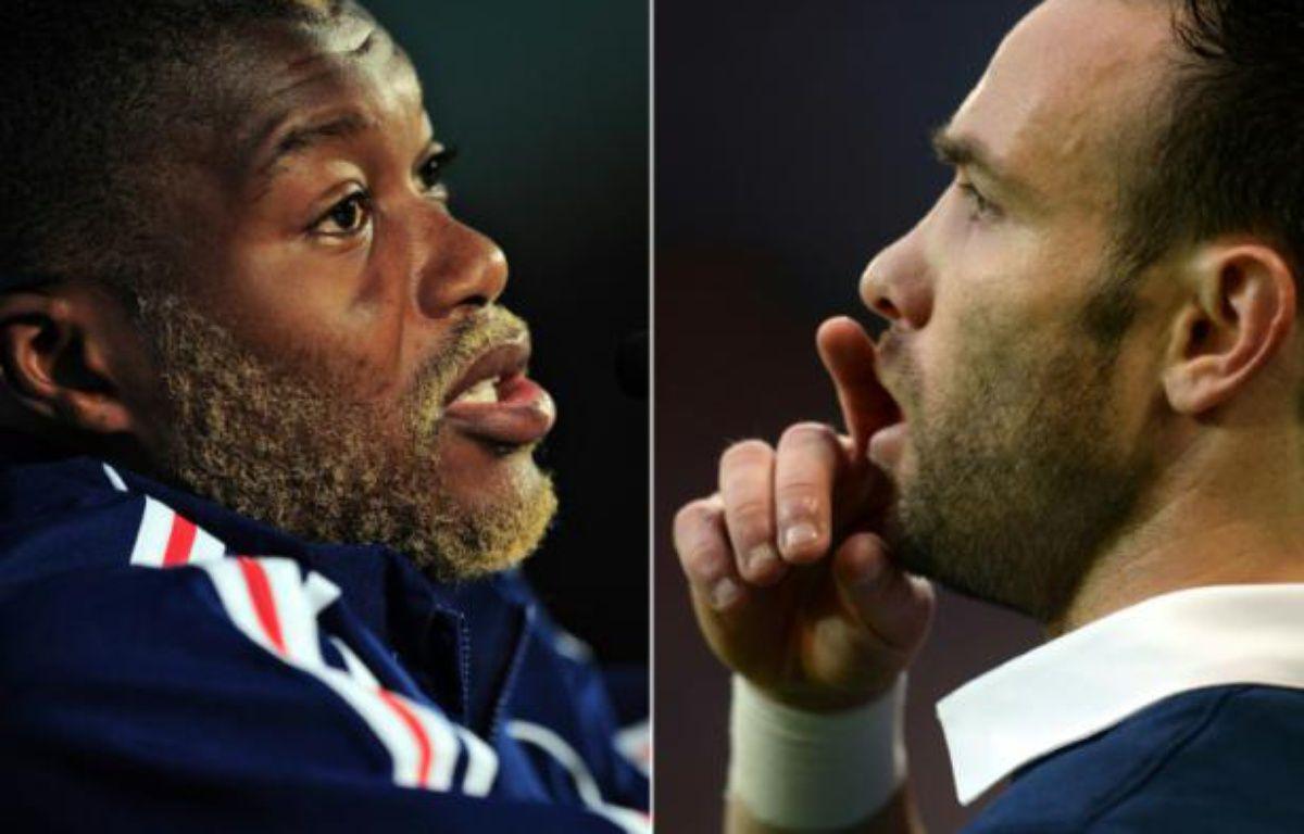 Montage photos, le 13 octobre 2015, des footballeurs Djibril Cissé (g) et de Mathieu Valbuena – FRANCK FIFE, DENIS CHARLET AFP