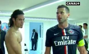 Capture d'écran du nez en sang de Thiago Motta après PSG-Bastia, le 16 août 2014