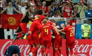 La joie des Belges à la fin du match