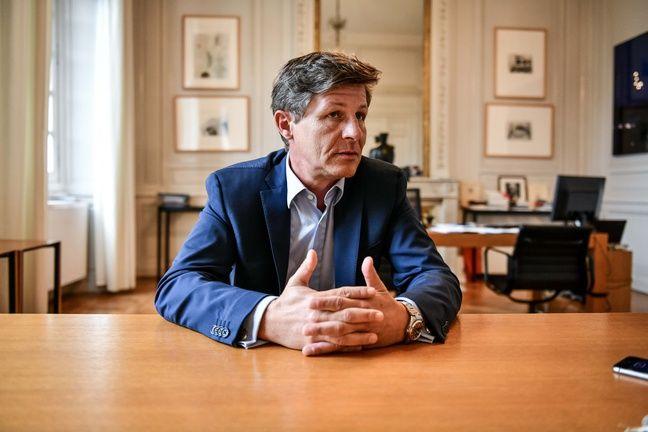 Nicolas Florian, dans son bureau de l'hôtel de ville, le 16 juin 2020