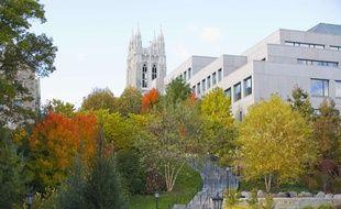 Le campus de Boston College, Massachusetts, aux Etats-Unis.