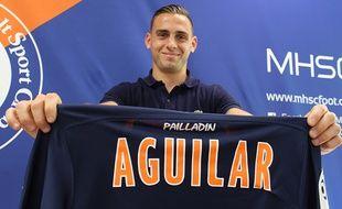 Ruben Aguilar, lors de sa signature au MHSC