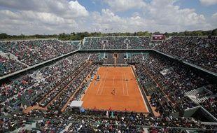 Le court central de Roland-Garros le 25 mai 2013.