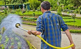 Un jardinier au Mans (Illustration).