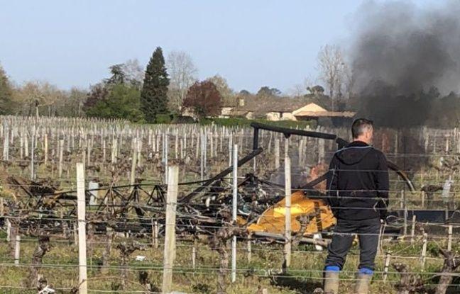 2 morts dans un accident d'hélicoptère — Lussac
