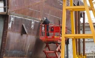 ST NAZAIRE, le 09/05/2014 Illustration des chantiers navals de Saint-Nazaire