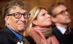 Bill Gates, co-fondateur de Microsoft, à Amsterdam le 26 janvier 2016.