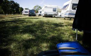Des Gens du voyage sur un campement à Toulouse.