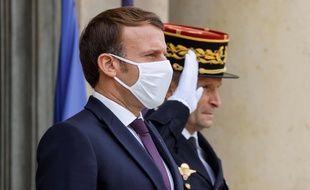 Emmanuel Macron le 19 octobre 2020 à l'Elysée.