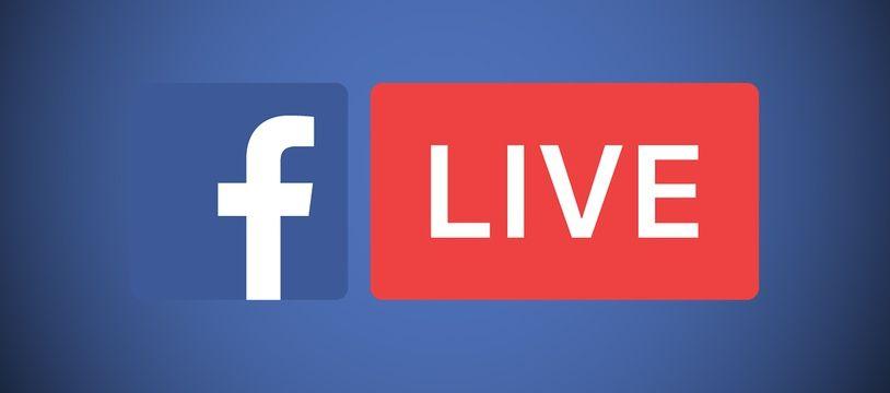 Le logo du service de vidéos en direct de Facebook