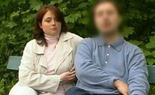 Laurence Vulsin et Christian Honoré en 2006, lors d'un reportage télévisé sur les familles recomposées.