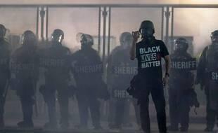 Une manifestation à Kenosha (Etats-Unis), le 25 août 2020, contre les violences policières.