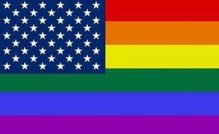 Le drapeau américain aux couleurs LGBT.
