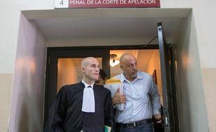 Le Français Nicolas Pisapia et son avocat Julien Pinelli,au tribunal à Saint Domingue, le 25 avril 2016