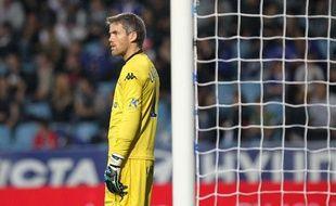 Le gardien de Bastia Mickaël Landreau, le 26 ocotobre 2013, contre Nice.