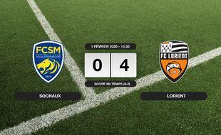 Ligue 2, 22ème journée: Victoire écrasante pour Sochaux sur Lorient (0-4)