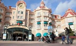 Le parc Euro Disney à Chessy, dont la situation financière sera évoquée lors d'un comité d'entreprise extraordinaire