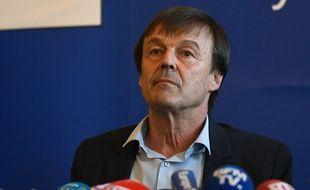Le ministre Nicolas Hulot mercredi 18 avril à Nantes.