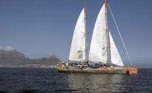 L'expédition Tara Océans lors d'une escale au Cap, en Afrique du Sud, le 5 septembre 2010.