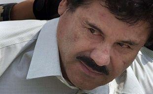 Joaquin Guzman, dit «El Chapo», escortée par la police mexicaine, à Mexico, le 22 février 2014.