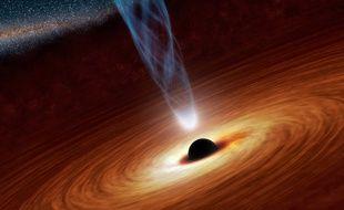 Illustration: Vue d'artiste d'un trou noir.