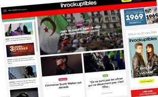 Capture d'écran du site des Inrocks.