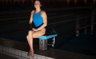Claire Supiot à la piscine d'Angers.