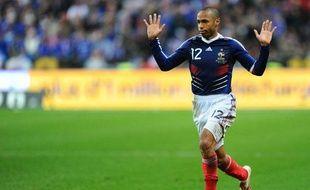 L'attaquant de l'équipe de france Thierry Henry, lors du match France - Irlande du 18 novembre 2009.