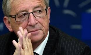 Le Luxembourgois Jean-Claude Juncker élu président de la Commission européenne le 15 juillet 2014, au Parlement européen à Strasbourg, dans l'est de la France