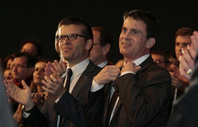 Luc Carvounas et Manuel Valls