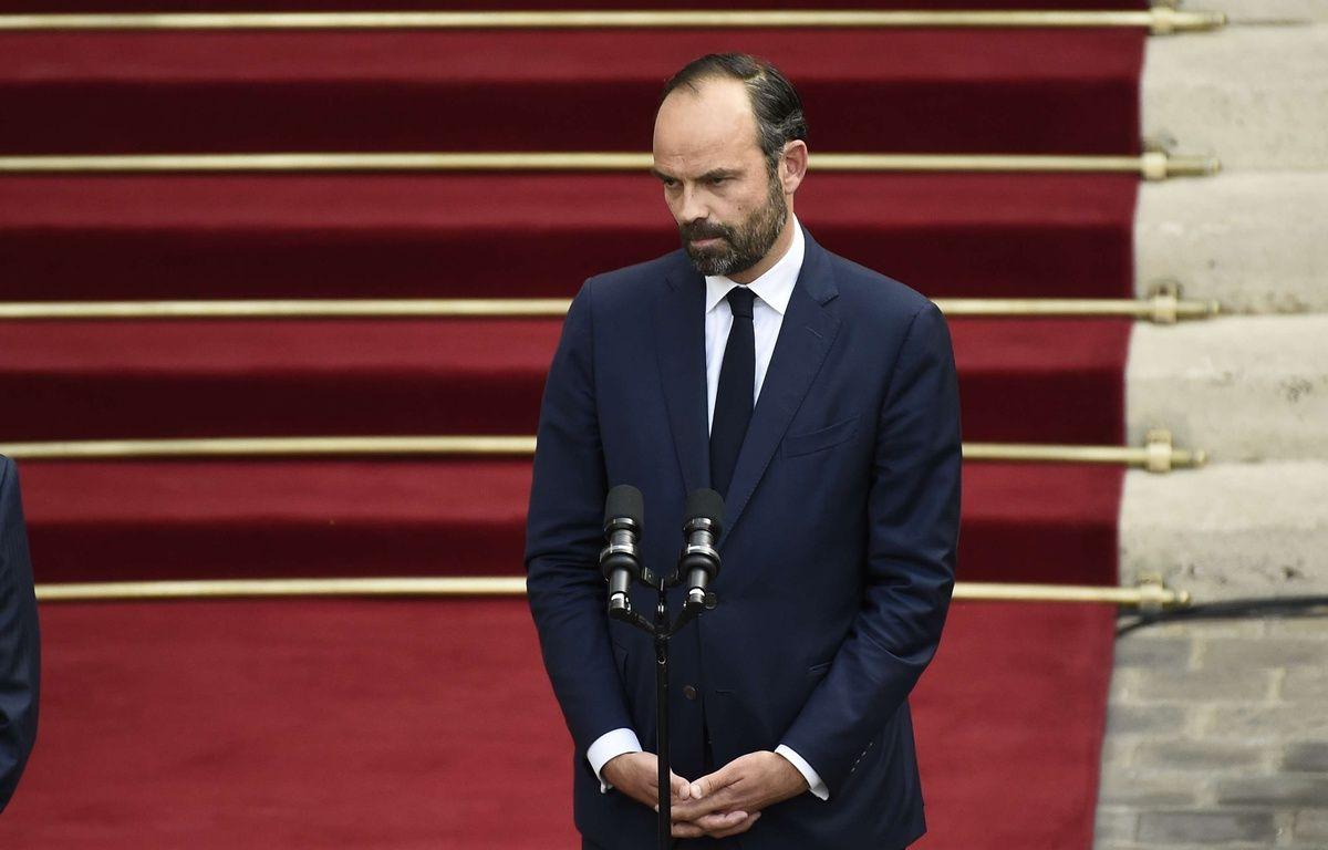 Edouard Philippe lors de la passation de pouvoir à Matignon le 15 mai 2017.  – Blondet Eliot-POOL/SIPA
