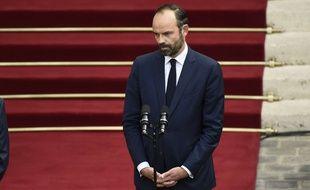 Edouard Philippe lors de la passation de pouvoir à Matignon le 15 mai 2017.