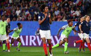 Wendie Renard après son péno manqué contre le Nigéria.