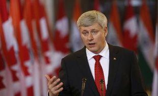 Le Premier ministre canadien Stephen Harper à Ottawa, le 15 avril 2015