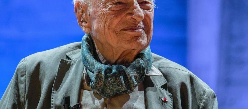 Le sociologue et philosophie Edgar Morin lors d'un hommage à l'Unesco le 2 juillet 2021.