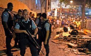 Des membres des forces spéciales brésiliennes à Rio de Janeiro le 22 avril 2014