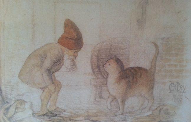 Le dessin de son aïeul Hans Christian Ley qui a inspiré Jacob Ley pour Julius et le Père Noël