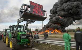 Manifestation d'agriculteurs à Vesoul, le 29 janvier 2016