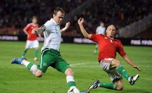 L'équipe d'Irlande face à l'équipe hongroise en match de préparation à l'Euro le 4 juin 2012.