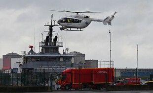 De gros moyens ont été mobilisés pour secourir les naufragés, le 27 octobre 2020 à Dunkerque.