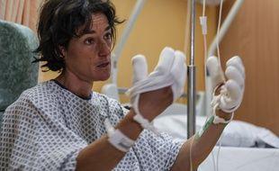 Elisabeth Revol, qui souffre de gelures, est prise en charge à l'hôpital de Sallanches (Haute-Savoie), spécialisé en médecine de montagne.