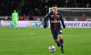 Marco Verratti s'est blessé lors de PSG-Guingamp, le 19 janvier 2019.