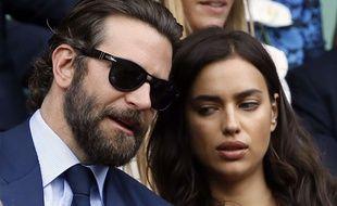 Bradley Cooper et Irina Shayk à Wimbledon, ce dimanche 10 juillet 2016.