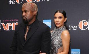 Le rappeur Kanye West et sa femme, l'entrepreneuse Kim Kardashian