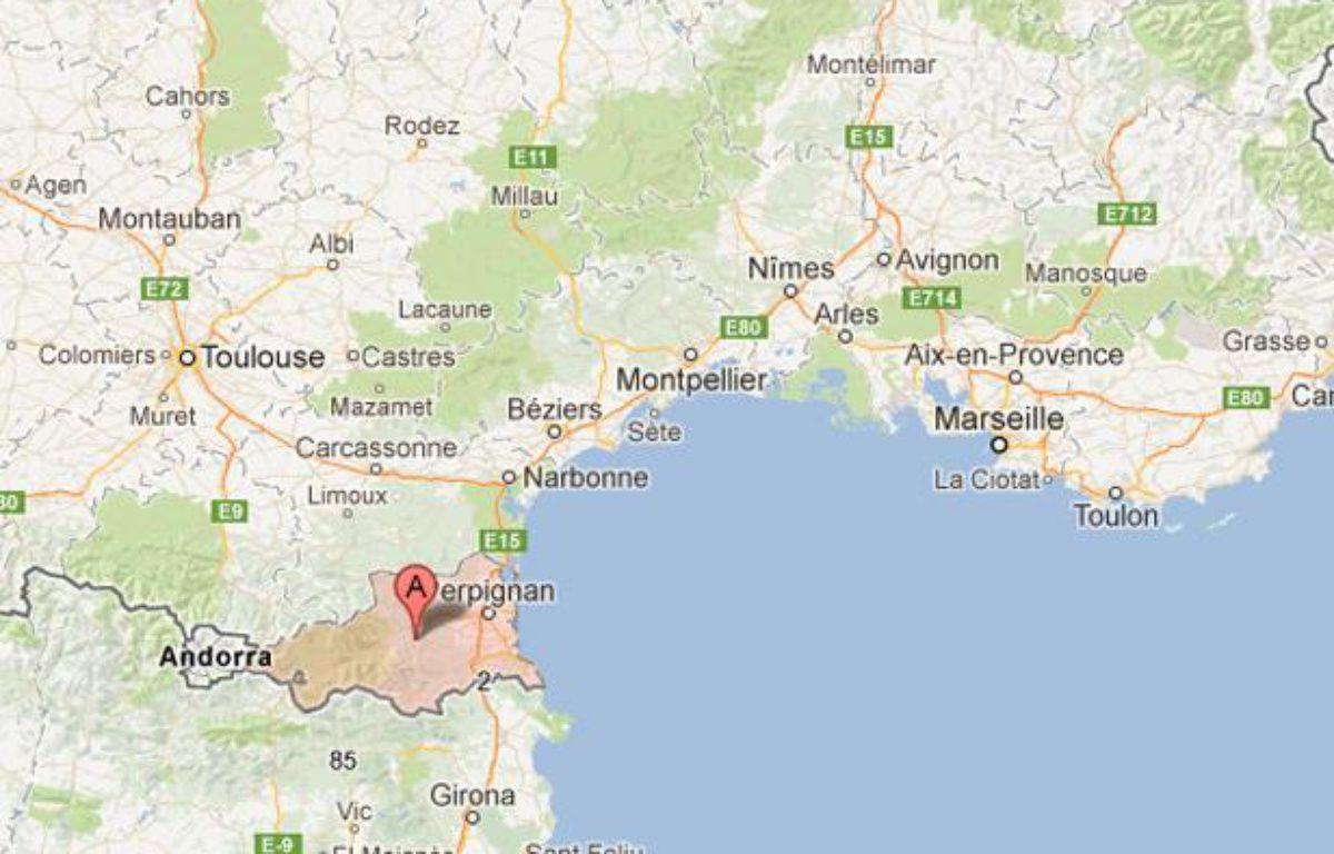 Le thanatopracteur, chez qui 700 litres de sang ont été retrouvés, exerçait dans le département des Pyrénées-Orientales – Capture Google Maps