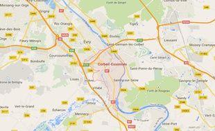 Google Maps de Corbeil-Essones.