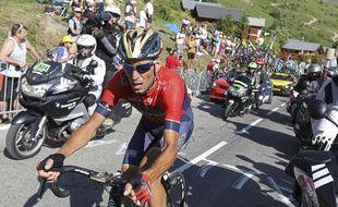Vincenzo Nibali a lourdement chuté dans l'Alpe d'Huez
