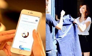 Le site pressing privé récupère les vêtements à domicile